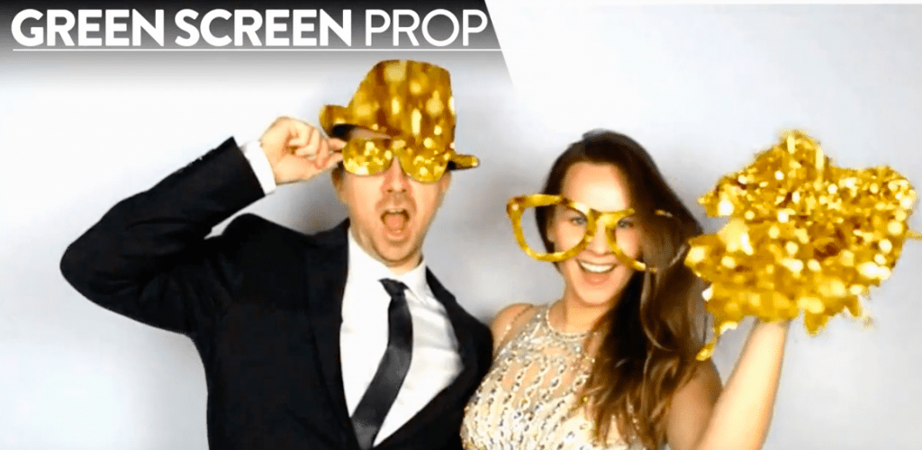 green screen props photo booth