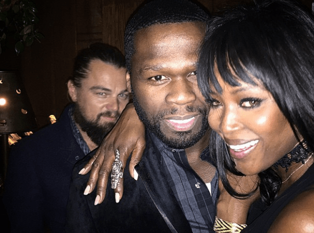 50 Cent, Naomi Campbell, and Leo